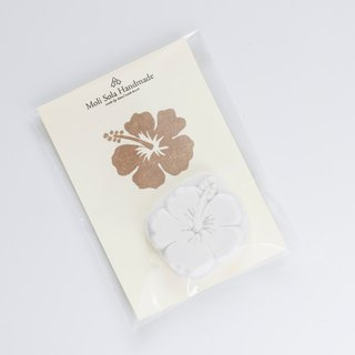 Hand carved Hawaii hibiscus rubber stamp