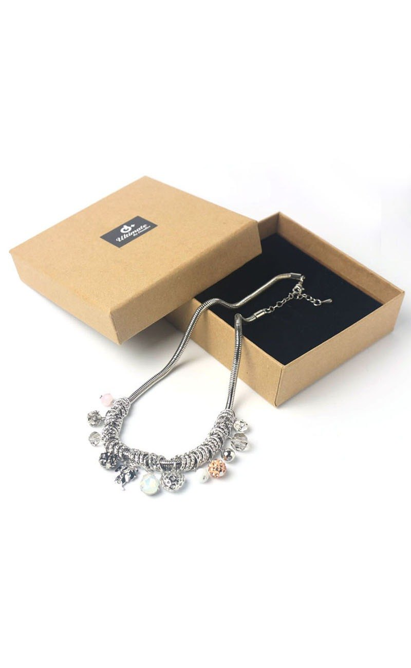 Simple fashion multi-element silver items and chain strap