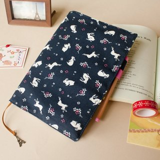 [Love fabric Fabric Series] A5 / 25K limited edition of the book clothes - F rabbit (dark blue)