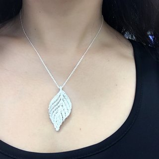 LUX sterling silver necklace / leaves