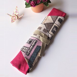 Utensil Wrap (Pink Black Cat)