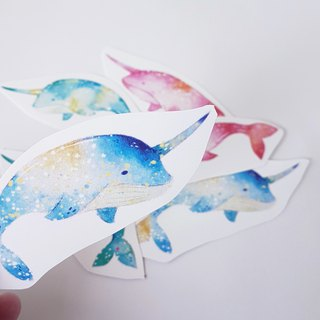 Sugar whale sticker set