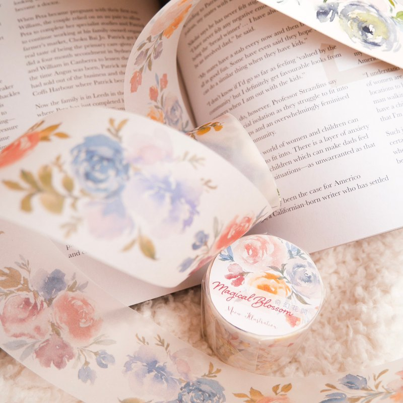 Fantasy flower open paper tape - special oil containing release paper