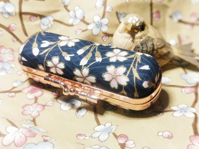Sakura Falling Cherry Blossom Lipstick Stamp Jewelry Storage Gold Box