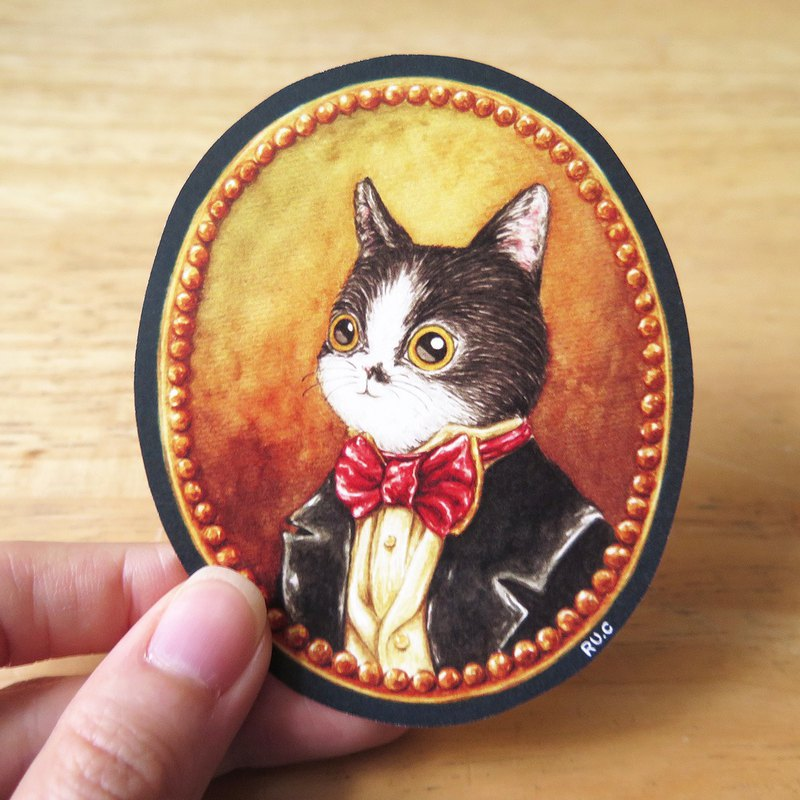 Aristocrat cat cat gentleman banquet cat sticker