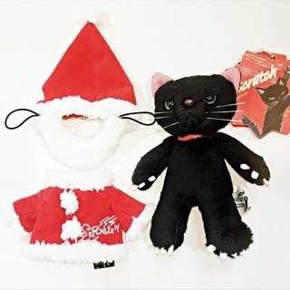 [Christmas Edition] SCRATCH, Japan caught cat fluffy doll ornaments _ black (13cm)