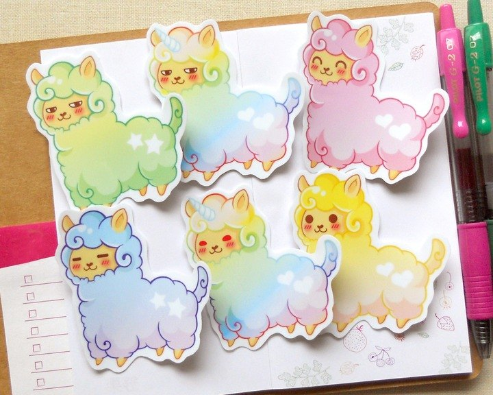 Large Alpaca Stickers 6 in - Large Alpaca Stickers