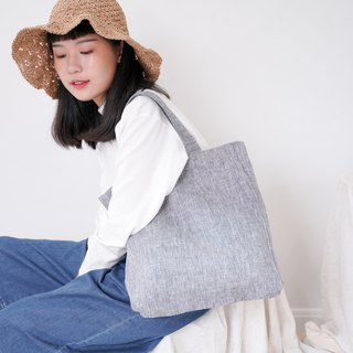 Casual Linen Tote Bag (Smart Grey)