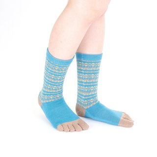 kukka pattern 5toe socks