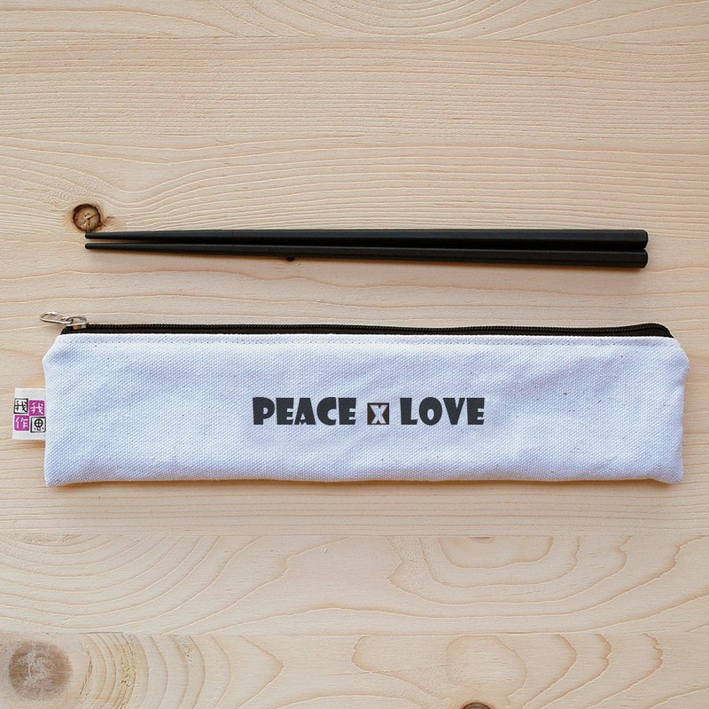 Positive energy zipper chopsticks bag chopsticks group _peace and love