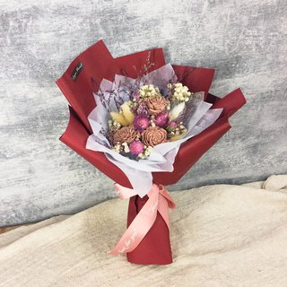 Mother's Day Limited Gentle Pink Sunflower Dried Bouquet / Dry Flower Handmade Bouquet / Thanksgiving Bouquet
