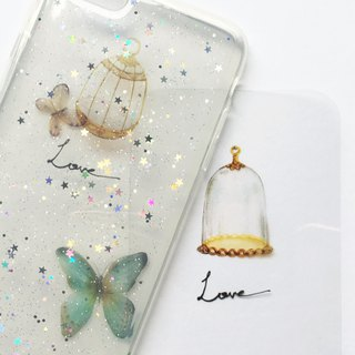 | Period limit | Stars glittering love heart phone shell anti-fall custom handwriting + plus words