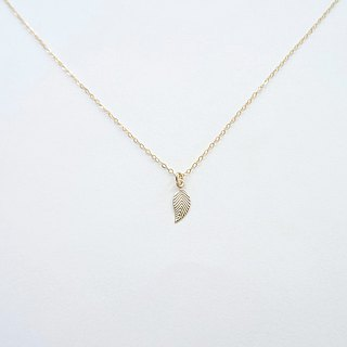 Gold Leaf Pendant 14K Gold Filled Necklace
