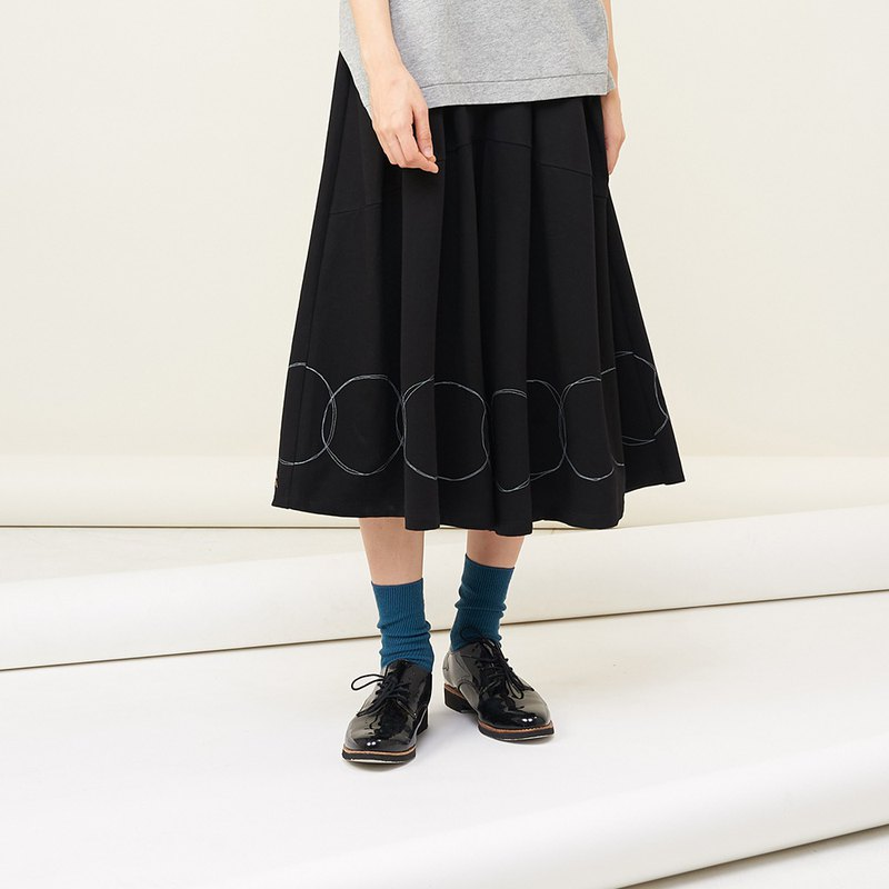 a la sha+a circle circle creative live wide skirt