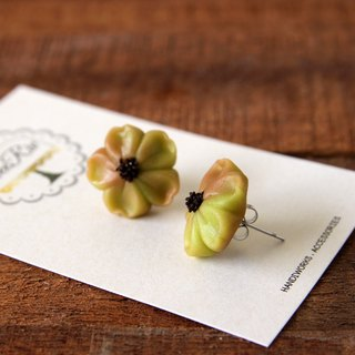 Micro-transparent cherry blossom and fruit earrings - Matcha Chocolate