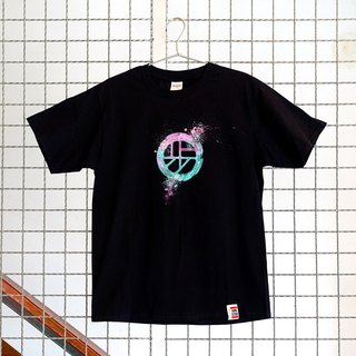 [Joint series | walking program X Annstudio] Logo hand-painted T - Psychedelic Planet (Black)
