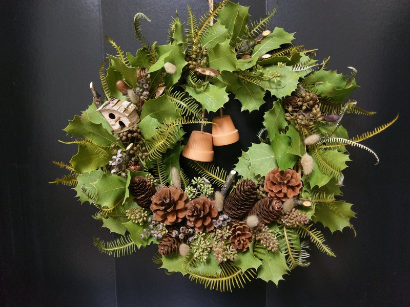 OliverGreen Drying Wreath Series Oliver Natural