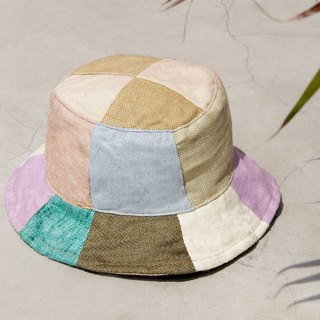Valentine's Day gift limited to a piece of earth forest wind splicing hand-woven cotton hat / fisherman hat / sun hat / patch cap / handmade cap - tropical fruit malleon stitching handmade cap