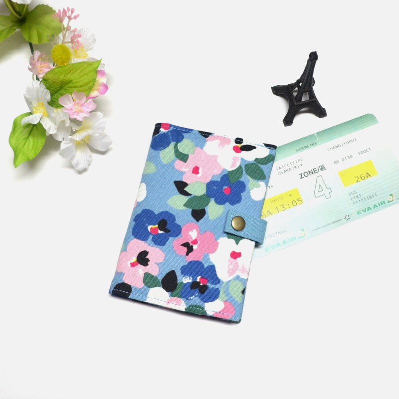 Spring Flowers Fabric Passport Cover Passport Holder Case