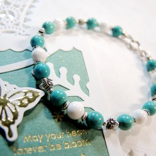 "Daisy daisy ""turquoise 砗 砗 磲 925 sterling silver lovely colorful bracelet"