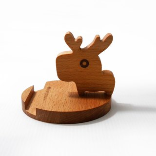 Christmas elk styling mobile phone holder mobile phone holder business card frame beech wood