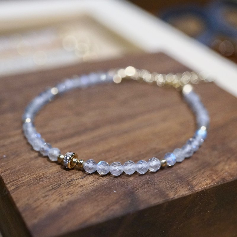 ITS-B120 [14KGF, natural stone, moonstone] One beautiful moonstone bracelet.