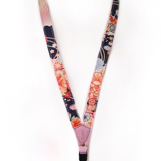 Mobile phone strap neck hanging - day and peony