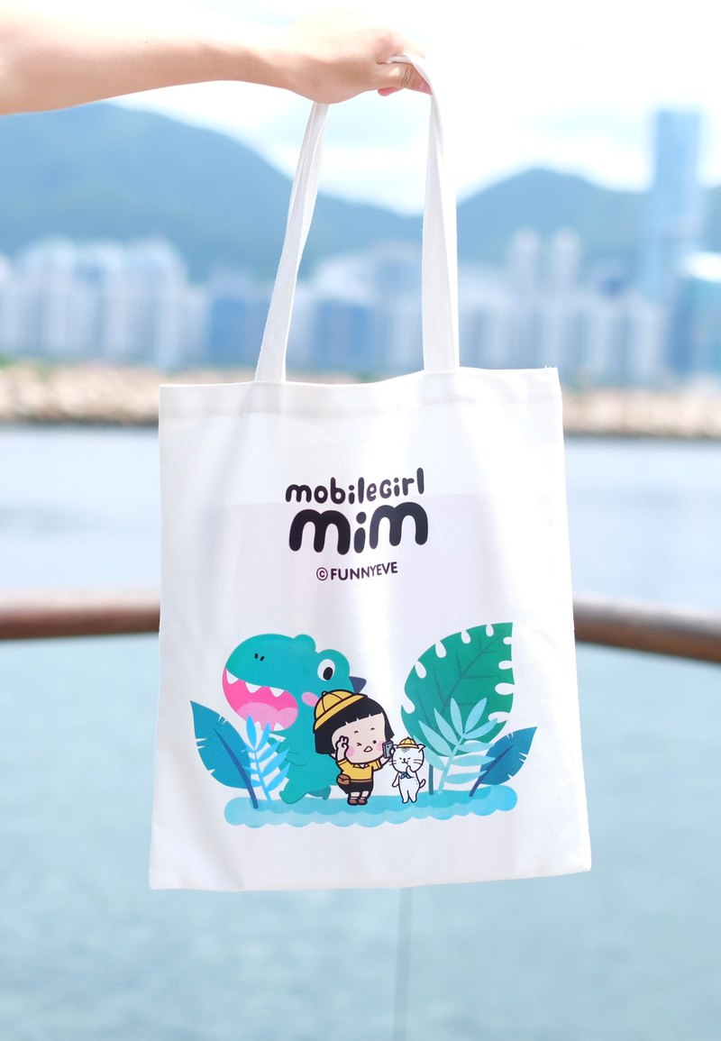 Mobile Girl Mim Tote Bag