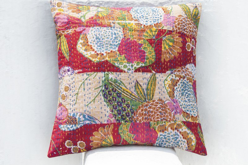 Flower Embroidered Pillow Case Cotton Pillow Case Ethnic Wind Pillow Case - French Style Colorful Flower Forest