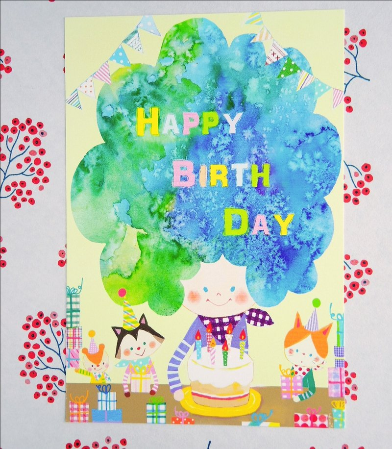 Postcards birthday Kae Fu Sophie