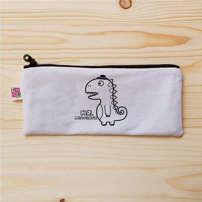 Mr. Dinosaur flat pencil case