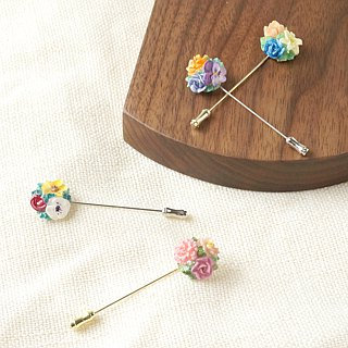 =Flower Piping= Customize Bouquet Brooch