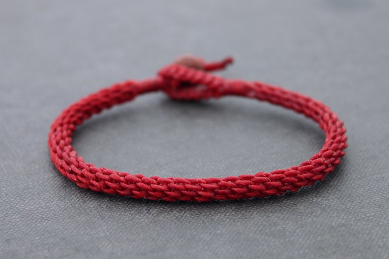 Red Woven Cuff Bracelets Simple Hand Woven Wristband