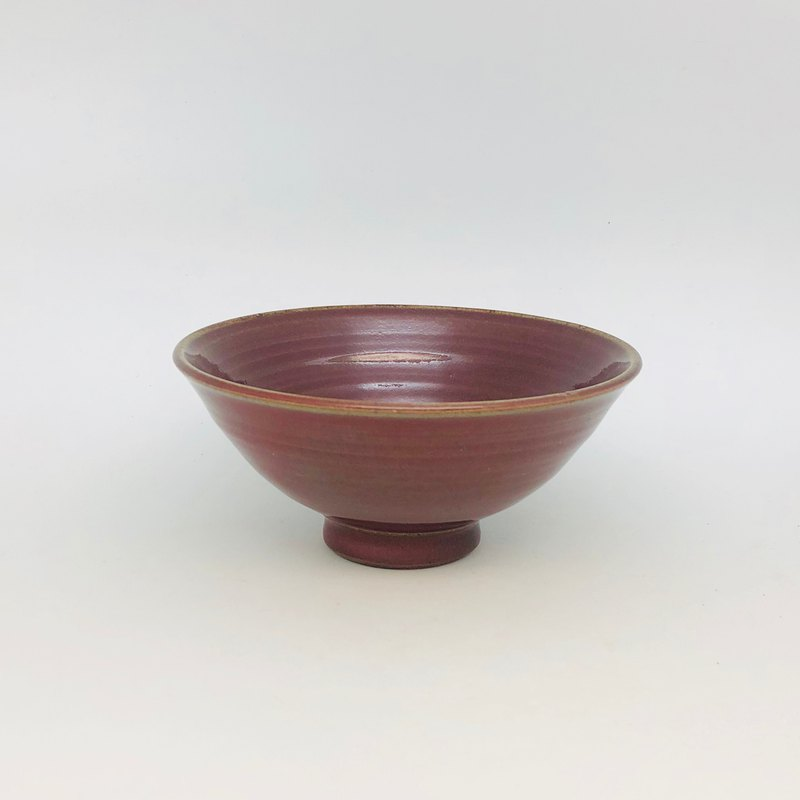 Copper red glaze bowl