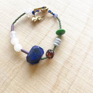 [Cat and Mice Beads Beads] bracelet collection - Natural Stone Series 004 (Lapis)