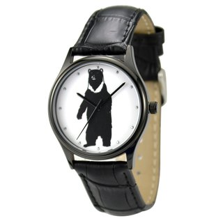 Animal (Bear) illustration Watch Black Unisex Free Shipping Worldwide