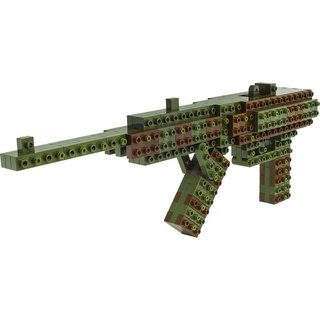 """JEKCA plot card Variety building blocks"" camouflage machine gun"