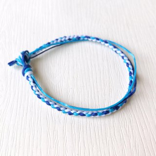Hope - silk wax line / hand-woven bracelet