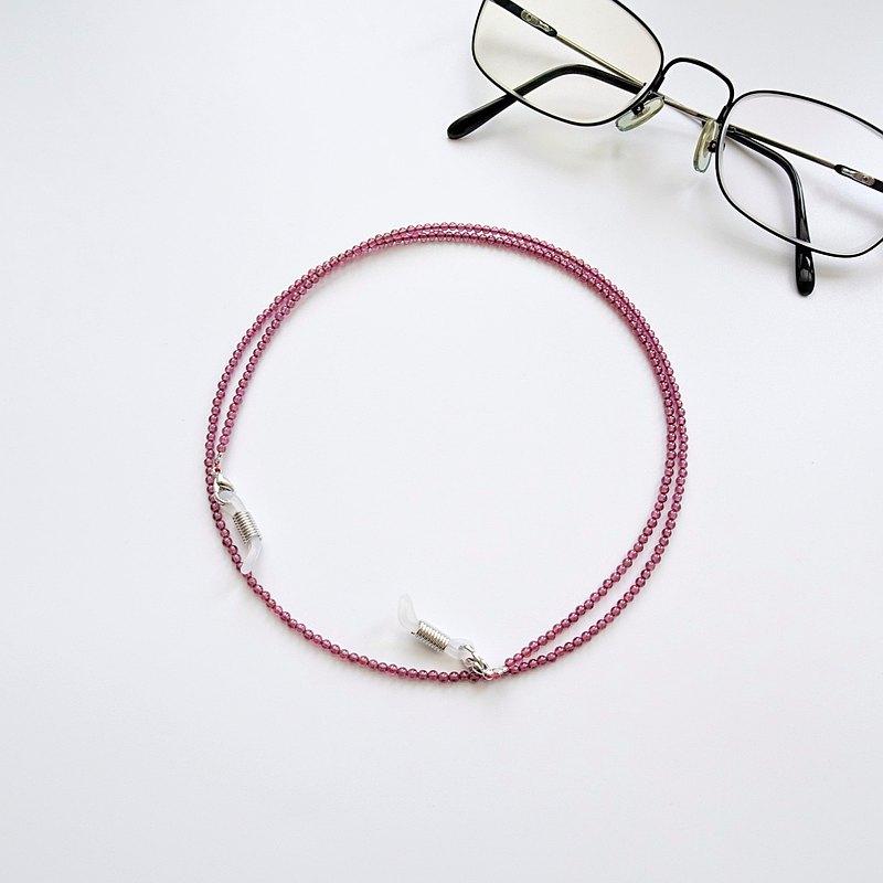 石榴石小圓珠眼鏡鍊 - 給媽媽的母親節禮物