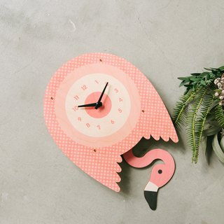 modern moose-3D clock-FLAMINGO PENDULUM  CLOCK
