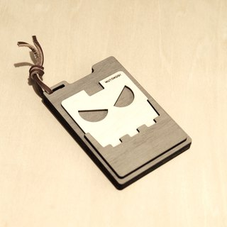 Wooden personality card holder - AI robot, ROBOT, card case, minimalist operation - MUTOKOGI