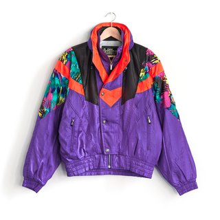Vintage Purple Block ski jacket double vintage jacket