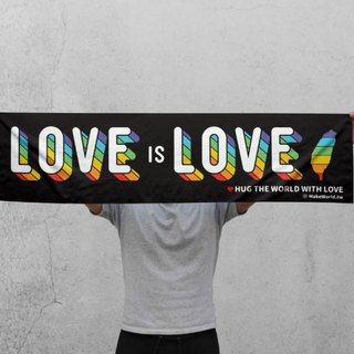 Make World map manufacturing sports towel (LOVE is LOVE)