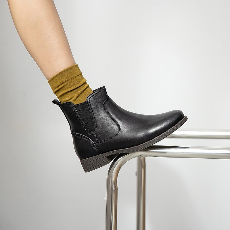 Relativistic Leather Boots-Moyu