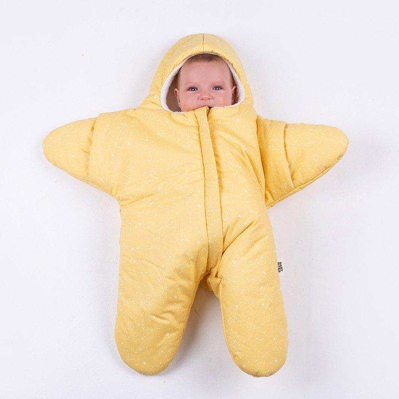 BabyBites鯊魚咬一口 純棉嬰幼兒睡袋-鵝蛋黃小海星
