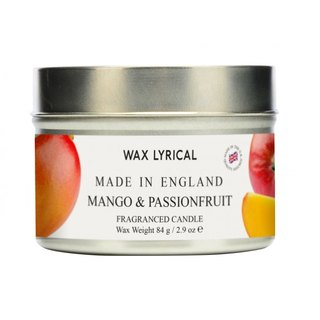 British Candles MIE Mango & Passion Fruit Tin Candles
