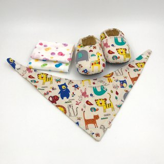 Happy sloth - Miyue baby gift box (toddler shoes / baby shoes / baby shoes + 2 handkerchief + scarf)