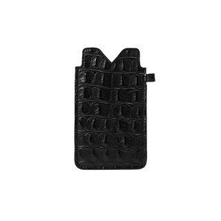 Italian black crocodile pattern leather iPhone 6S / iPhone 7 phone sets
