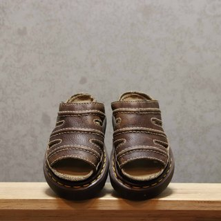 Tsubasa.Y Ancient House Dark Brown 001 Martin Slippers, Dr.Martens England