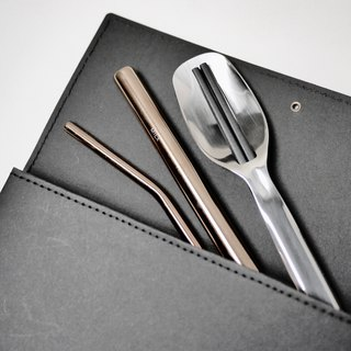 Straw chopsticks carrying combination - straw thickness group normo chopsticks group washed kraft paper storage clip